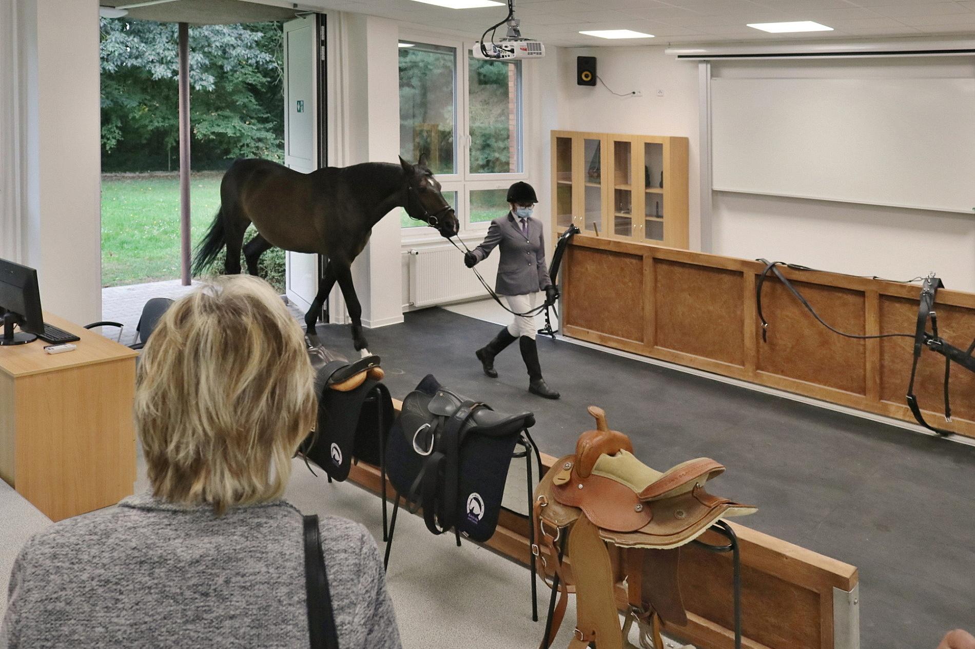 Střední škola chovu koní a jezdectví otevřela demonstrační učebnu